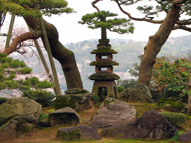 Kết quả hình ảnh cho Vườn Kenroku ở thành phố Kanazawa (Ishikawa)
